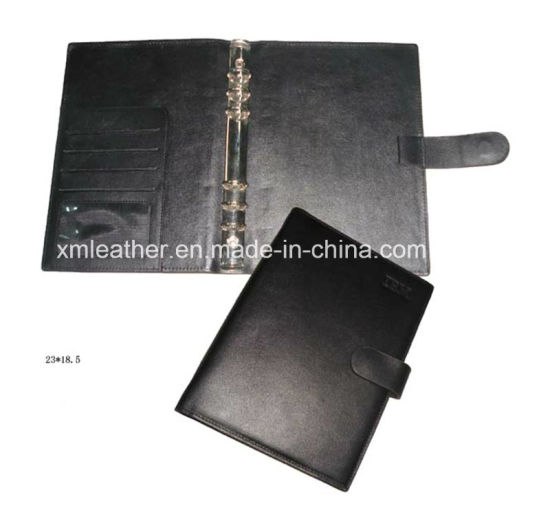 A5 Leather Notebook Cover with Metal Ring