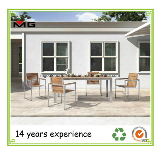 China Patio Furniture Teak Garden Chairs with Stainless Steel Frames ...