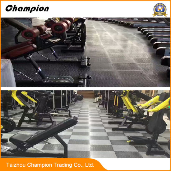 China popular steel plate grain pvc flooring in different colors