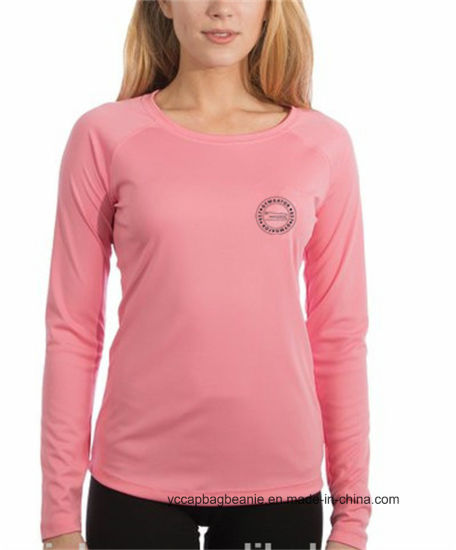100% Microfiber Performance Womens Long Sleeve Shirt pictures & photos
