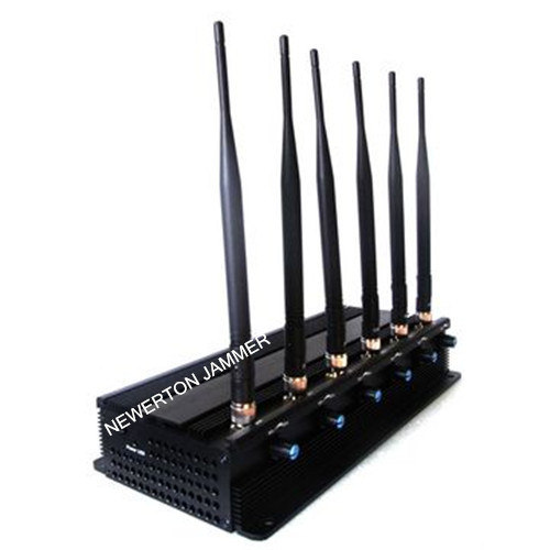 6 Antennas Cellular Phone Blocker Jammer for GSM 3G/4G Cellphone, 2.4G WiFi GPS, Lojack, VHF UHF Walky-Talky or 315/433/868MHz Car Remote pictures & photos