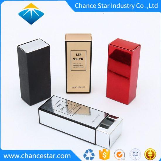 Custom Printed Foil Paper Sliding Box for Lipstick Packing