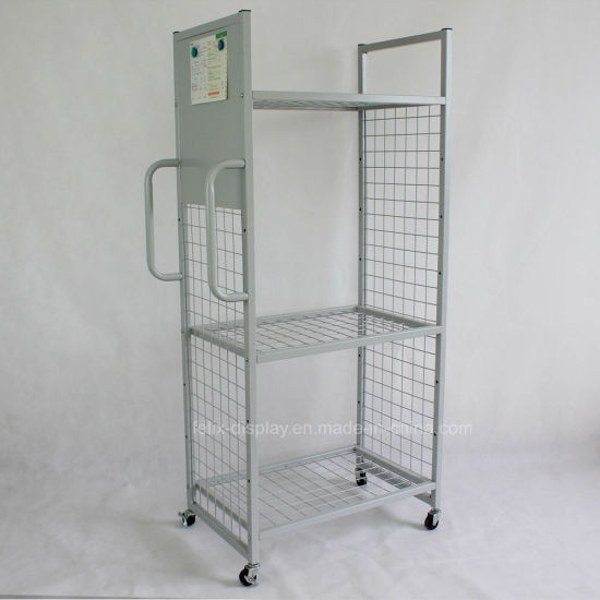 China Removable Floor Standing Multi-Function Metal Wire Grid ...