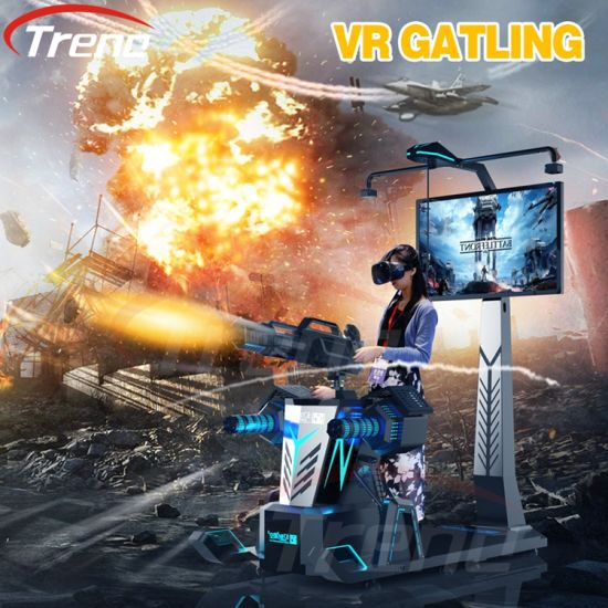 360 Degree Panoramic Gatling Virtual Reality Simulator 9d Vr Shooting Game  Cinema