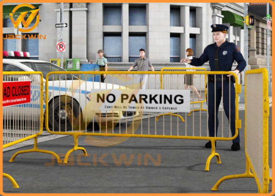 China road safety barrier fence metal crowd control