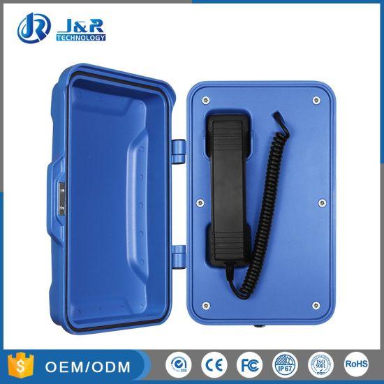 Weatherproof Ringdown Telephone for Hazardous Industry, Moisture Resistant Tunnel Hotline Telephone
