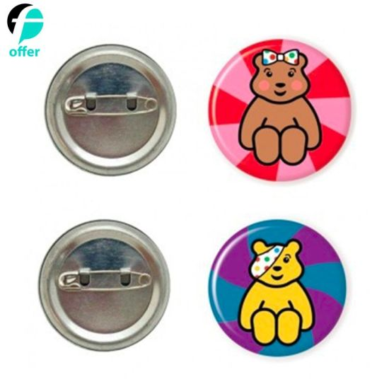 Promotion Custom Logo Star Shape Tin Button Badge pictures & photos