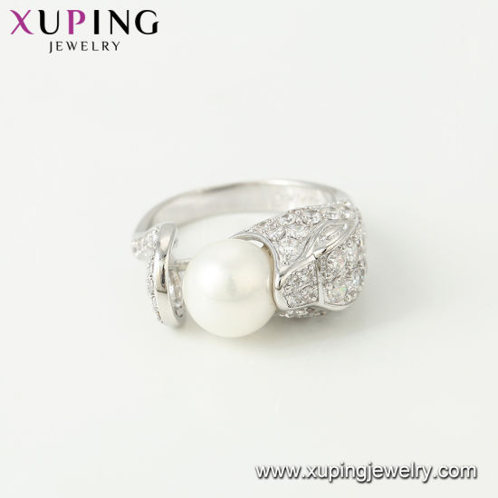 11304 Fashion Luxury CZ Crysral Rhodium Jewelry Ring with Butterfly -Plated pictures & photos