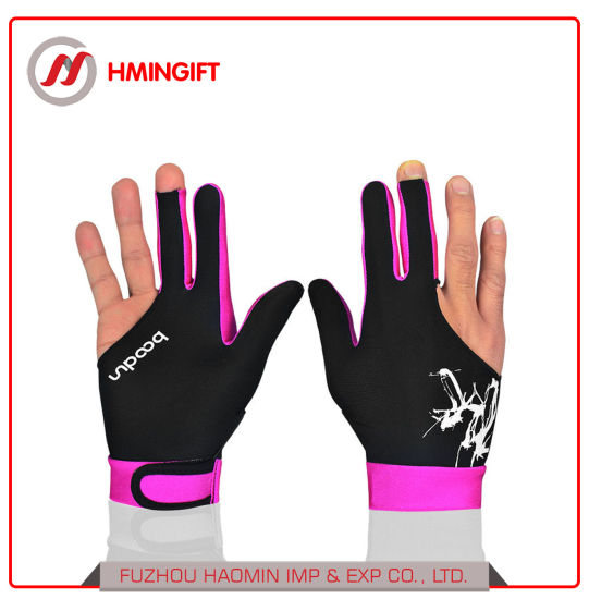 Billiard Gloves Three Fingers Gloves Men and Women Fingers Left and Right Hand Wear Billiard Gloves Single Pack