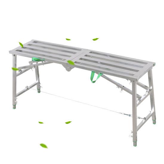 China Factory Hot Sale Indoor Decoration Ladder / Horse Stool Folding Lifting