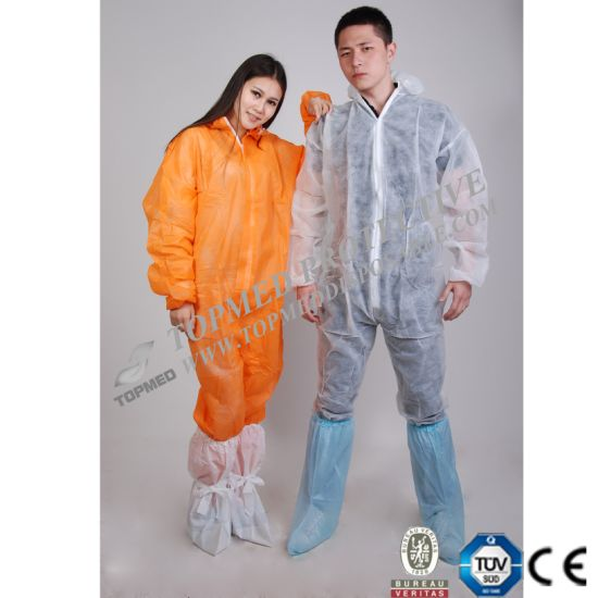 Hot Sale Disposable Non Woven Coverall, Microporous Paper Coverall pictures & photos