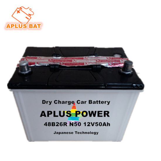 Rechargeable Started Dry Charge Lead Acid Car Batteries N50 48b26r
