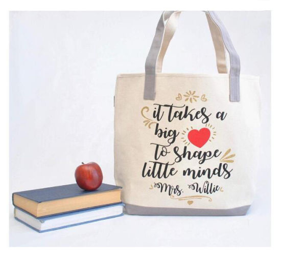 Most Popular Fashion New Design Teacher Cotton Tote Bags
