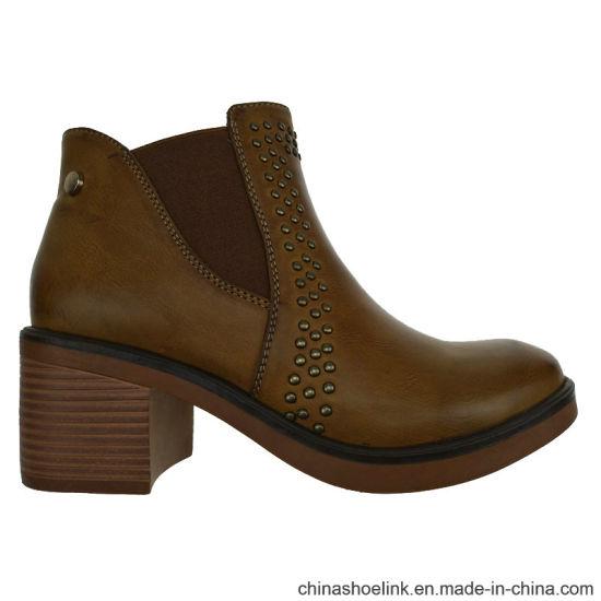 81f47b9bb0ea China New Fashion Brush PU Hot Sale Pretty Women Ankle Boots - China ...