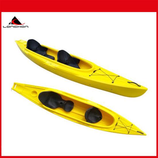 13FT PE Material 2+1 Family Sit in Plastic Kayak with Big Capacity
