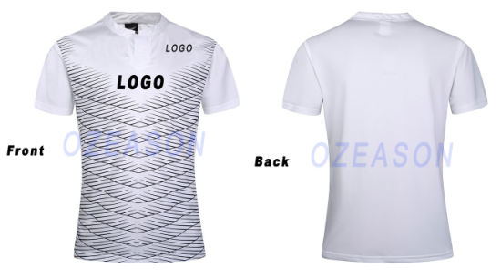 96188f4e6dd China Customized 100% Polyester Men′s Plain Sublimation Rugby Shirt ...