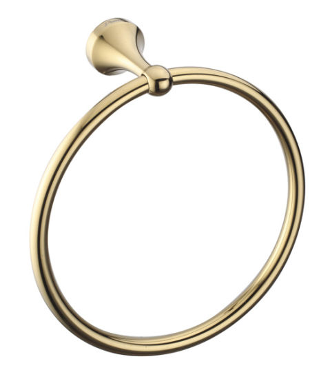 Dia 160mm Brass Towel Ring With Pvd Gold Luxury Finish China Bathroom Accessories Bathroom Fittings Made In China Com