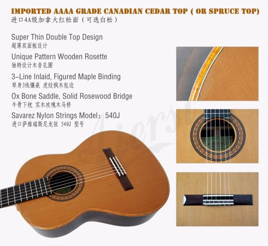 Special Design Double Top Guitar Models by Yulong Guo pictures & photos