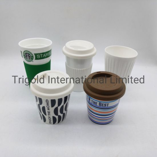 High Quality Ceramic Coffee Mug with Silicon Lid Silicon Sleeve
