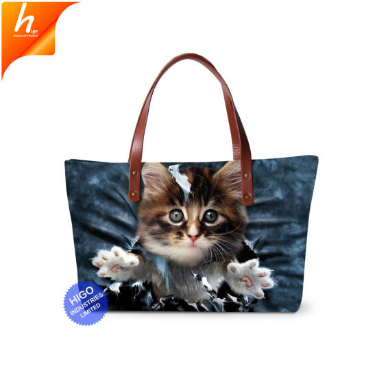 02a5eb4e56 China Neoprene Cat Themed Handbag Oversized Tote Bag Dropshipping ...
