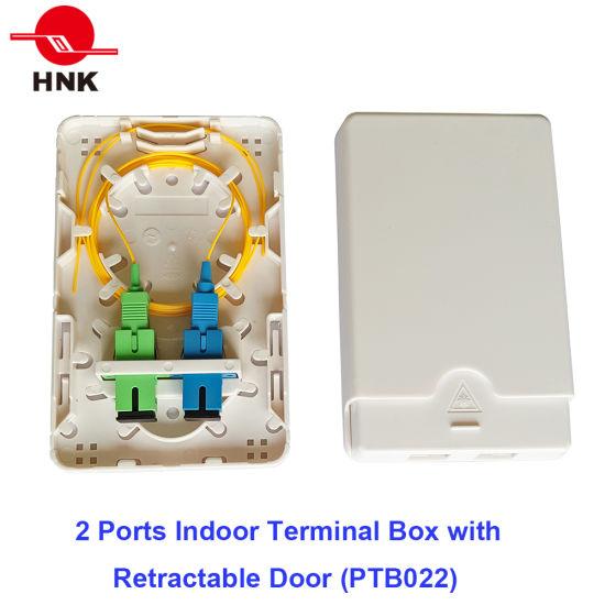 2 Ports Indoor Terminal Box with Retractable Door (PTB022)