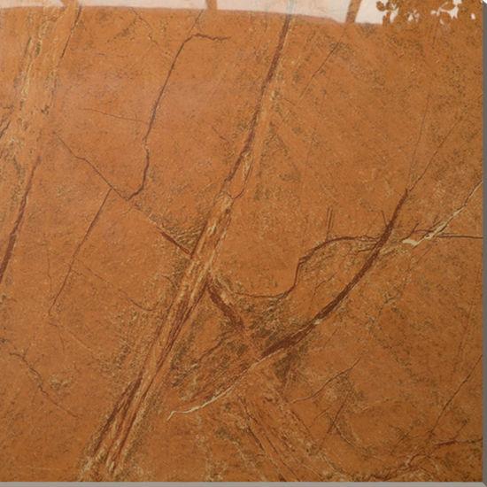 China Bright Orange Ceramic 600x600 Cheap Interior Floor Tile