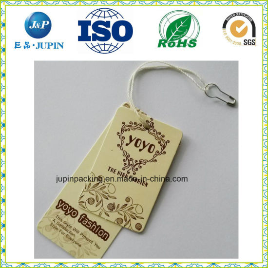 2017 New Design Great Quality Vintage Paper Jeans Hang Tags for Boys (jp-t020) pictures & photos
