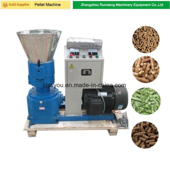 China Flat Die Poultry Chicken Feed Pellet Farm Pellet Mill Machine
