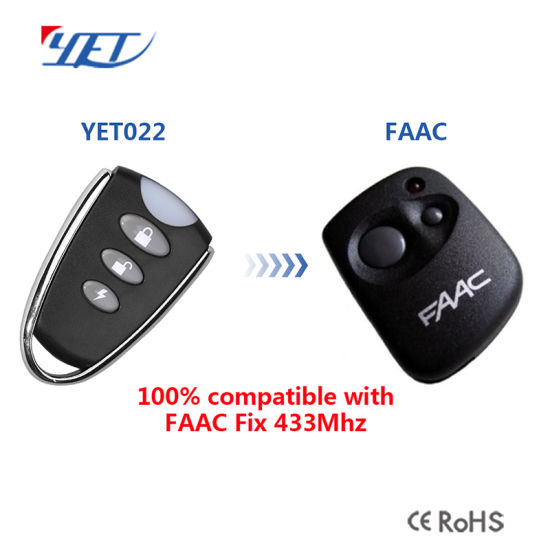 China Compatible Faac Remote Control With Code Inside No Need To