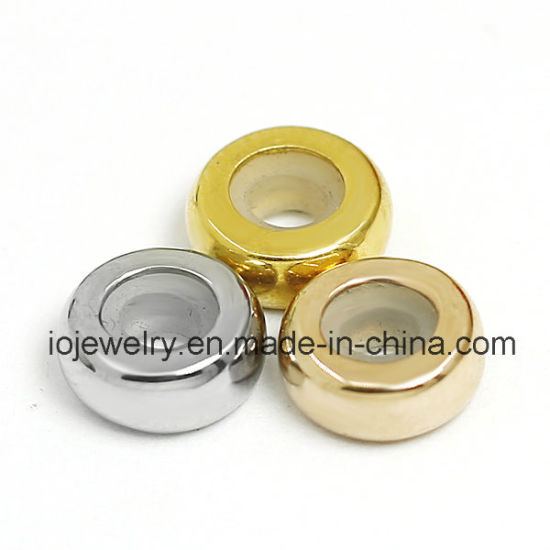 High Polished Smooth Stopper Beads for Bracelet