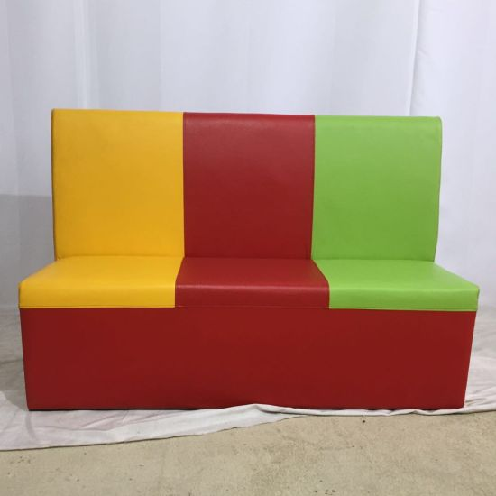 China Modern Double Side Armless Colorful Leather Dining Bench Seat Sofa China Sofa Wooden Sofa