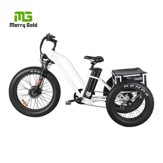Cheap Electric Tricycle Adults Fat Tire 3 Wheel Electric Bicycle