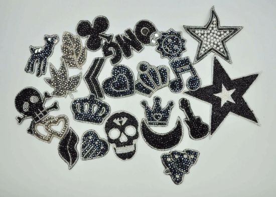 Hotfix Rhinestone Motif Iron on Patches Applique for Heat Transfer Clothing  Shoes 571f9f042257