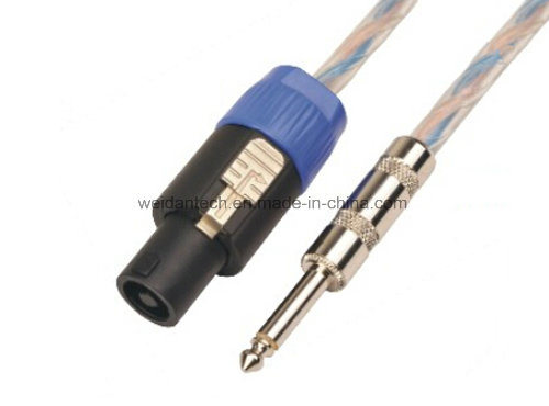 "1/4"" Mono Trs to Banana PRO Audio Speaker Cable pictures & photos"