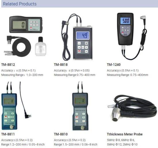 NEW Ultrasonic Wall Thickness Gauge Meter Tester Steel PVC Testing TM-8816