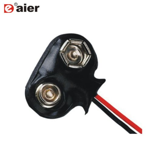 150mm Wiring Black Snap Connector for 9 Volt Battery on