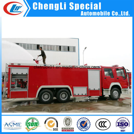 6X4 Rescue Vehicle Water Foam Fire Fighting Engine Truck pictures & photos