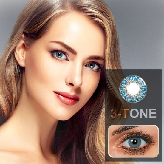 Wholesale 14.50mm Diameter Three Tone $1 Color Contact Lenses pictures & photos