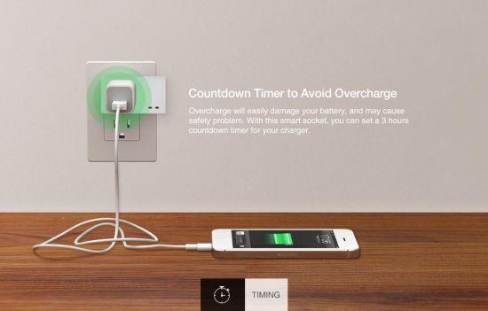 China Timethinker Smart Home WiFi Socket Outlet APP Voice
