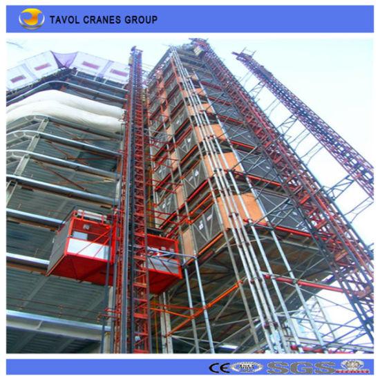Double Cage Building Lift Passenger Hoist Construction Hoist