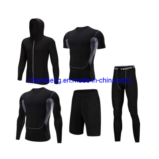 OEM High Quality Custom Men Sports Breathable Clothing Compression Wear Gym Fitness Suit