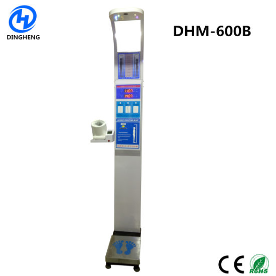 Dhm-600b Body Weight Machine Health Height and Weight Scale with Blood Pressure Meter
