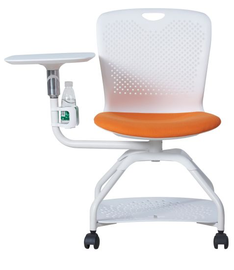 New Design Plastic Public Training Chair with Rotary Writing Pad