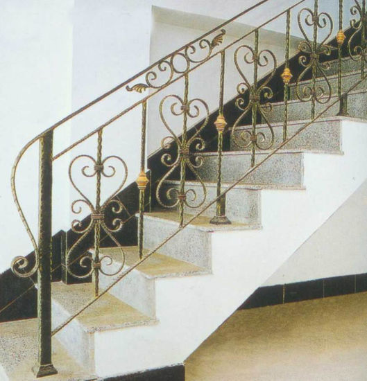 China Factory Price House Main Wrought Iron Staircase Railing Design