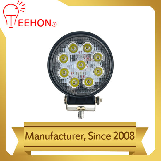 Round 4.3 Inch LED Car Driving Working Lamp 27W
