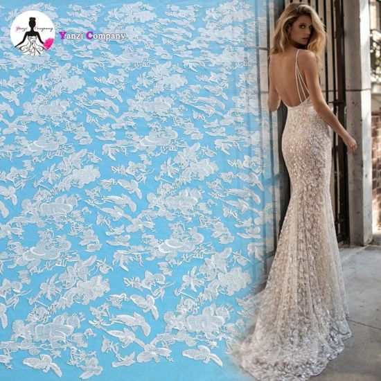 Fantastic Irregularity Design High-Quality Embroidery Lace for Ladies Dresses