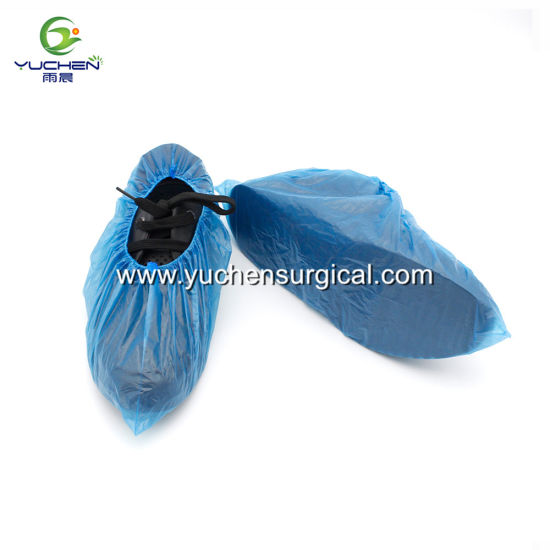 Cheap Price Disposable Waterproof Blue PE Shoe Covers