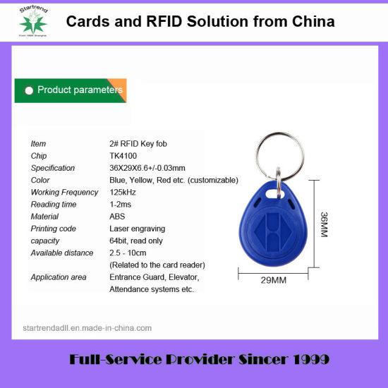 125kHz Em4100 Tk4100 ABS RFID Tag RFID Keyfob (Tag-02)