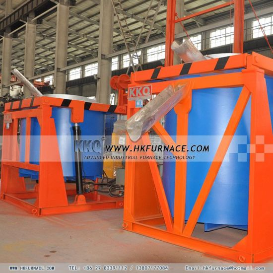 Tilting Crucible Melting Aluminum Furnace with Electric Heating