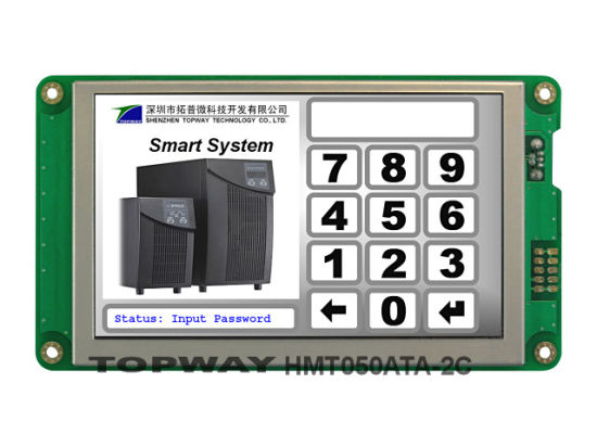 5 Inch 800X480 RS232 Interface Smart TFT LCD Display